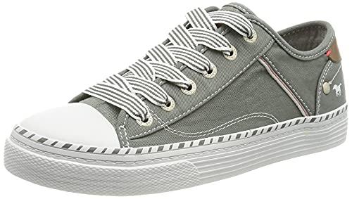 MUSTANG Damen 1376-301-72 Sneaker, grün/grau, 40 EU