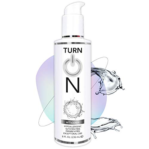 Turn On Silicone Based Sex Lube 8 Ounce. Premium Personal Lubricant for Men Women & Couples. More Long Lasting Than Water Based. Condom Safe Hypoallergenic Glycerin Paraben Free PH Balanced Intimacy