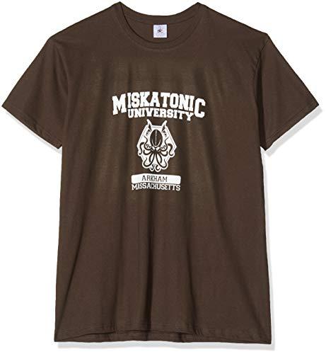 Texlab Herren Miskatonic University T-Shirt, Braun, XXL