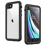 Singdo iPhone SE 2020 Waterproof Case,iPhone 7/8 Waterproof Case, Built-in Screen Protector Full Body Heavy Duty Shockproof IP68 Waterproof Case for iPhone SE 2020/7/8 4.7 inch Black/Clear