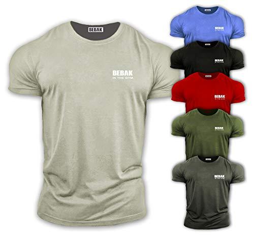 Bebak Active Herren Gym T-Shirt – Bodybuilding T-Shirts – Gym Kleidung – Workout Tops – Training Top – Arnold Schwarzenegger inspiriertes Design T-Shirt – halb tailliert, um einen trainierten Körper zu zeigen ...