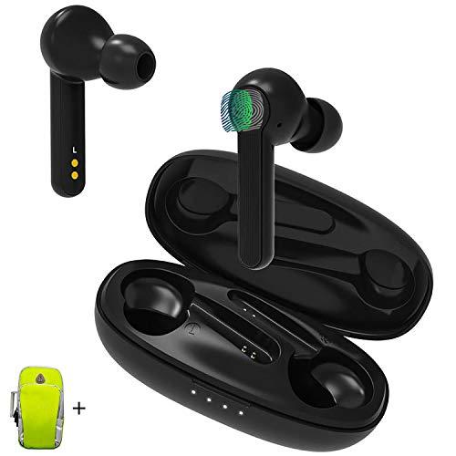 TWS Auriculares Bluetooth 5.0 Control Tactil con Brazalete Deportivo D