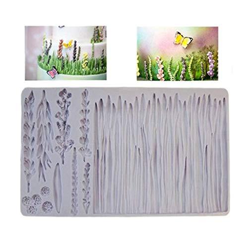 planuuik Pflanzen weizen Gras wildwiese silikonform Lavendel Kuchen Grenze Fondant DIY Baby Geburtstag Kuchen dekorieren Tools süßigkeiten zuckermasse Formen