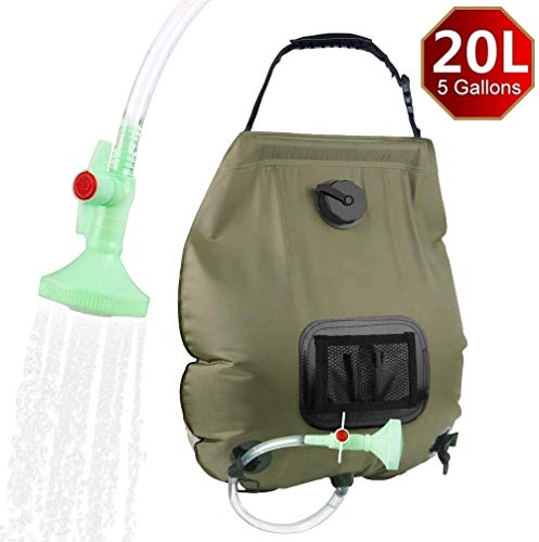 Why Should You Buy Camping Solar Shower Bag 5 Gallon / 20 Liter Outdoor Shower Bag Portable Outdoor Solar Shower Bag Upgraded Detachable Hose and Switchable Shower Head for Hiking and Hiking Summer Shower (1)