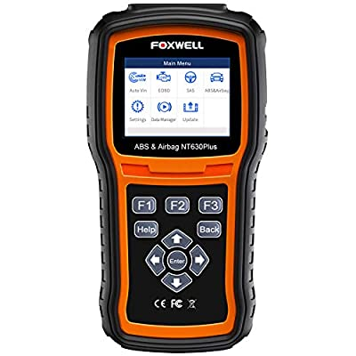 FOXWELL NT630 Plus OBD2 Scanner ABS SRS Code Reader Automotive OBD II SRS Airbag Diagnostic and ABS Brake Bleed Scan Tool from FOXWELL
