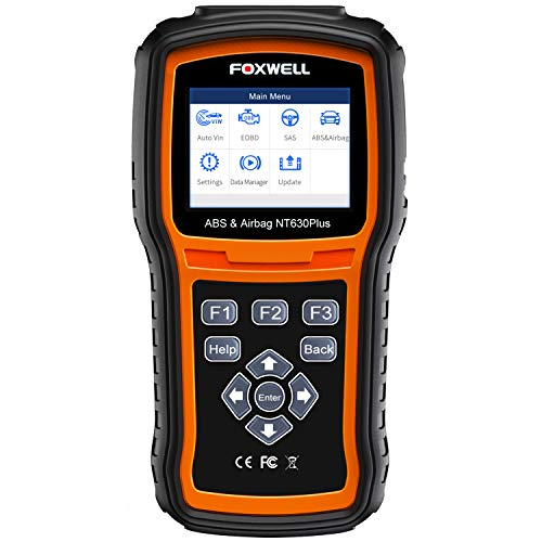 FOXWELL NT630 Plus OBD2 Scanner SRS Code Reader Automotive OBD II SRS Airbag Diagnostic and ABS Brake Bleed Scan Tool