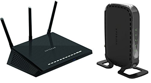 NETGEAR Nighthawk R6700-100NAS AC1750 Smart Dual Band Wi-Fi Gigabit Router and CM400 (8x4) Cable Modem DOCSIS 3.0