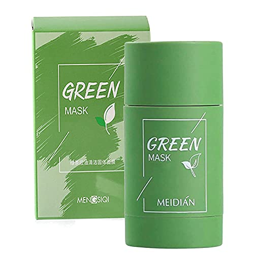 Green Tea Mask for Face, Blackhead Remover with Green Tea Extract, Deep Pore Cleansing, Moisturizing, Skin Brightening, Removes Blackheads for All Skin Types of Men and Women