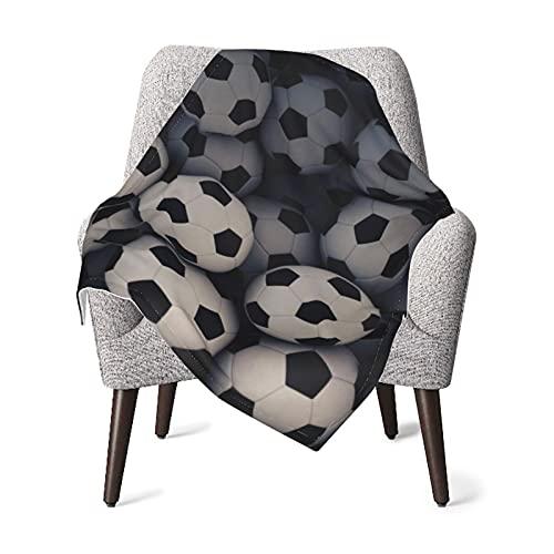 Manta para bebé o niña, diseño de fútbol, manta térmica para bebé, manta para siestas, manta de viaje, manta para dormir de 76 x 101 cm