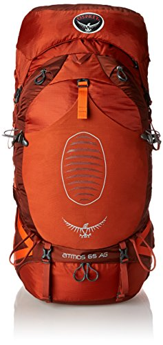 Osprey Men's Atmos AG 65 Backpack (2017 Model), Cinnabar Red, Large
