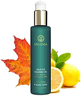 Hylunia Salicylic Facial Cleansing Gel - 5.1 fl oz - Hyaluronic Acid Serum - Acne Prevention