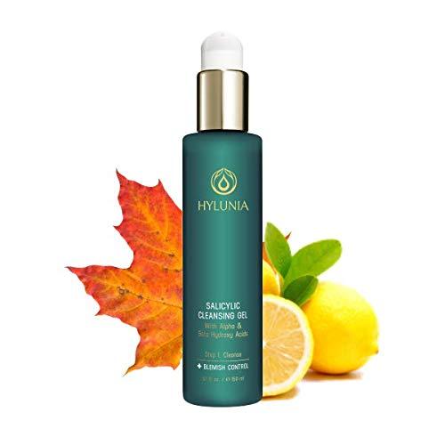 Hylunia Salicylic Facial Cleansing Gel - 5.1 fl oz - Hyaluronic Acid Serum - Acne Prevention