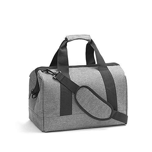 Festnight Haversack tas met afneembare riem schoudertassen van kationisch polyester voor op reis (grijs)