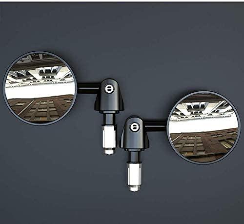 Fahrradrückspiegel, 2 Stück Verstellbar Fahrradspiege Sicherer Rückspiegel Lenkerspiegel Flacher Lenker Rückspiegel Fahrradspiegel Reflektor Spiegel für Fahrrad Rennrad Mountainbikes