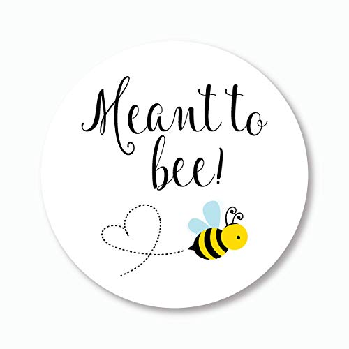 "120ct - 1"" Meant To Bee Stickers, Meant to Be, Honey Wedding Favor Stickers (#377)"