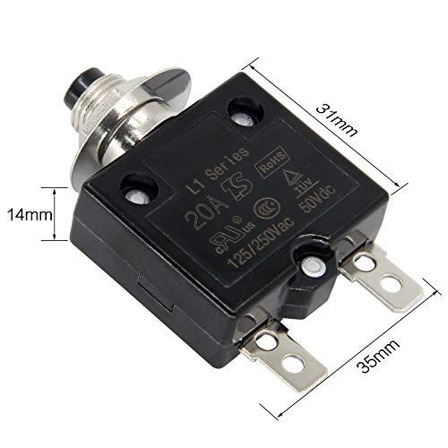 20A Philmore LKG Miniature Push Button Circuit Breaker