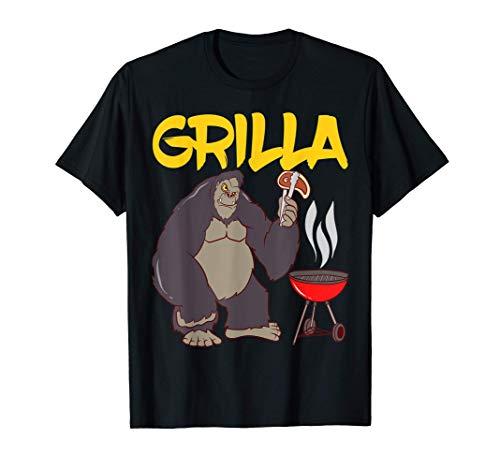 BBQ Grillmeister Grillen Gorilla Grilla Grillparty T-Shirt