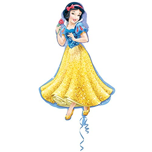 Disney Princess - Globo Supershape de Aluminio de Blancanieves (Talla Única) (Azul/Amarillo)