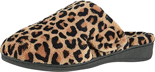 Vionic Women's Indulge Gemma Slipper - Ladies Adjustable Slippers with Concealed Orthotic Support Natural Leopard 7 Medium US