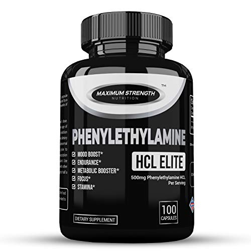 Phenylethylamine HCL Elite (Pea) 100 Capsules - Powerful Nootropic and CNS Stimulant - Boost Mood and Assist