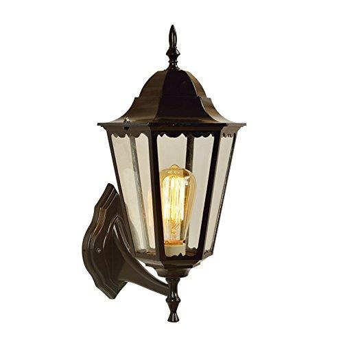 YU-K Antike Edison, Außen-Wand die Single Head antikeWandWasserdichte Outdoor Patio lampe glasWand für Terrasse GarteAußen Terrasse Licht ideal ist,260 * 440mm