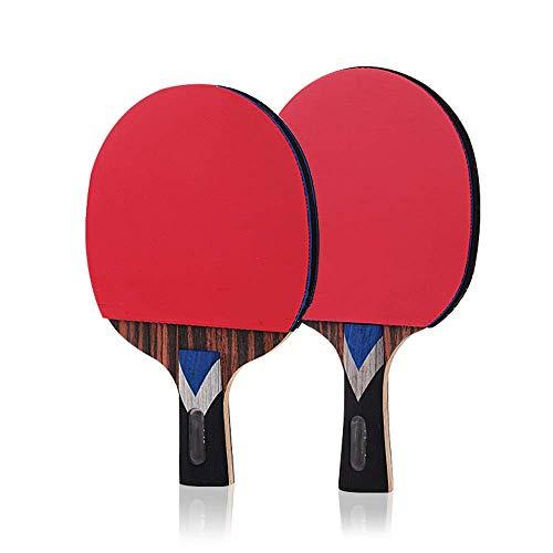 NBVCX Decoración de Muebles Raqueta de Tenis de Mesa Ping Pong Paddle Juego de Raqueta intermedio y avanzado de ébano Raquetas Straight Shot Pro Premium (Color: Multicolor Tamaño: 15X24CM)