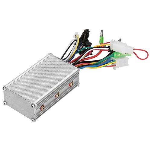 Jadpes Controlador sin escobillas para vehículo eléctrico, 36V/48V 350W Controlador de Motor sin escobillas Interruptor rotativo Variable Continuo Interruptor Generador de señal