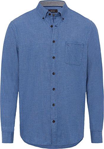 BRAX Herren Style Donald Freizeithemd, BLEU, 46 (Herstellergröße: XXL)
