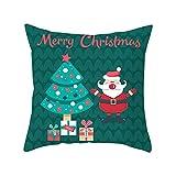 Geminimall Gemini_mall - Copricuscino natalizio per divano, decorazione per la casa, decorazione natalizia, decorazione natalizia, decorazione regalo per bambini e adulti