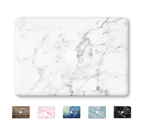 DowBier MacBook Decal Vinyl Skin Sticker Cover Anti-Scratch Decal For Apple Macbook … (Macbook 2016&2017 PRO 13'/Inch A1706/1708, White Marble)