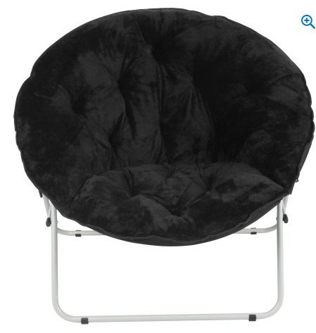 commercial Oversized Moon Chair-Black rated papasan lounge