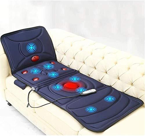 PSM Ganzkörper-Massage-Matte mit Wärme, Multi-Funktions-Shiatsu-Massagematte mit 9 Massage-Modi, Massagekissen Entlasten Hals, Rücken, Taille, Beine Schmerz