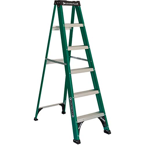 Louisville Ladder FS4006 Fiberglass Standard Step Ladder, 6 Feet,...