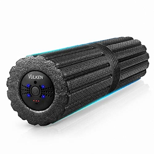 """Vulken Extra Long 17"""" Vibrating Foam Roller 4 Speeds 3800RPM High Intensity Quick Charge Electric Foam Roller Tissue Massager for Muscle Recovery"""