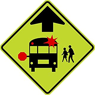Traffic Signs - S3-1-School Bus Stop Ahead Sign 12 x 18 Aluminum Sign Street Weather Approved Sign 0.04 Thickness