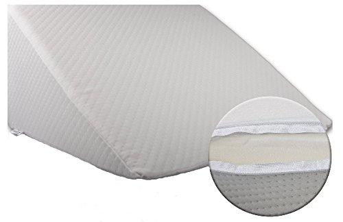 Bella Luna XXL Keilkissen 30x50x60 cm zum ergonomischen Sitzen und Liegen im Bett mit Microfaser Bezug - keilförmiges Schaumstoffkissen für Betten und Wasserbetten