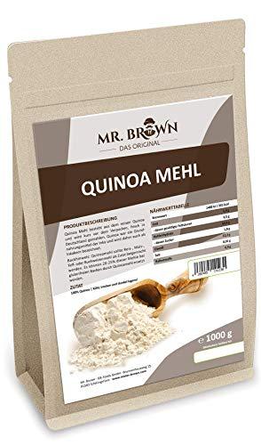 Mr. Brown Quinoa Mehl 1 kg frisch in Deutschland gemahlen | glutenfrei | glutenfree | zum Backen | Quinoamehl - die glutenfreie Mehlalternative | abgefüllt in Deutschland