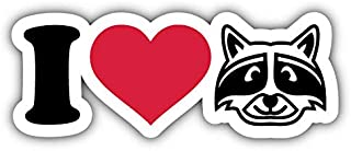 "MAGNET I Love Raccoons Vinyl Magnet Bumper Refrigerator Sticker Magnet Flexible Reuseable Magnetic Vinyl 5"""