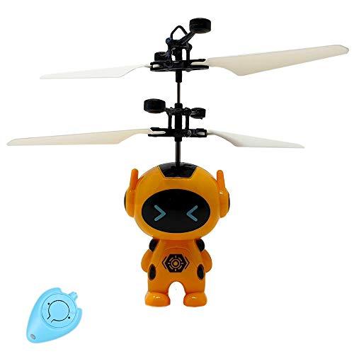 Dreamtoys Fliegender Roboter Astronaut Superheld Space Robot Hubschrauber (Gelb) - Einfach zu Steuern per Hand mit...