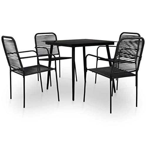 Goliraya Set de Comedor de Jardín 5 pzas,Conjunto Mesa y sillas Jardin,Mesa y sillas de Jardin,Mesa y sillas Jardin Exterior,Conjunto sillas y mesas,Mesa y sillas Madera Exterior,Conjunto Jardin