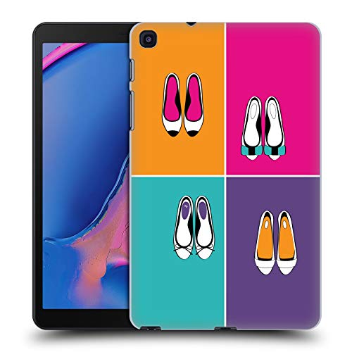 Officiële Martina Illustration Ballerina Girly Schoenen Hard Back Case Compatibel voor Galaxy Tab A 8.0 & S Pen 2019