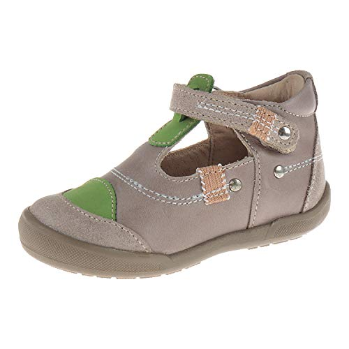 Minibel Schuhe für Babys Halbschuh mit Klettverschluss Ilan Taupe Taupe Vert 1M151402B13 (21 EU)