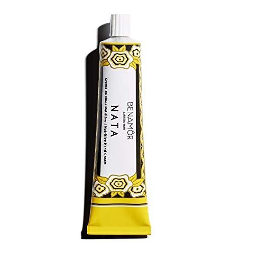 Benamôr - Crema de manos reconfortante Nata - 99% Ingredientes naturales - Acción reconfortante - Perfume gourmet - Sin parabenos - Tubo 50ml