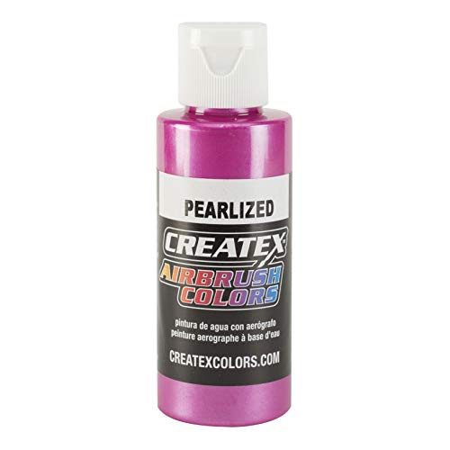 Airbrush Pearlescent Paints Color: Magenta, Capacity: 4 Oz by Createx