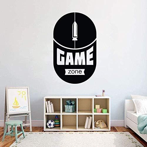 Juego Mouse Etiqueta de la pared Vinilo removible Etiqueta de la pared DIY Autoadhesivo Etiqueta impermeable Decoración del hogar interior 42 * 69 cm