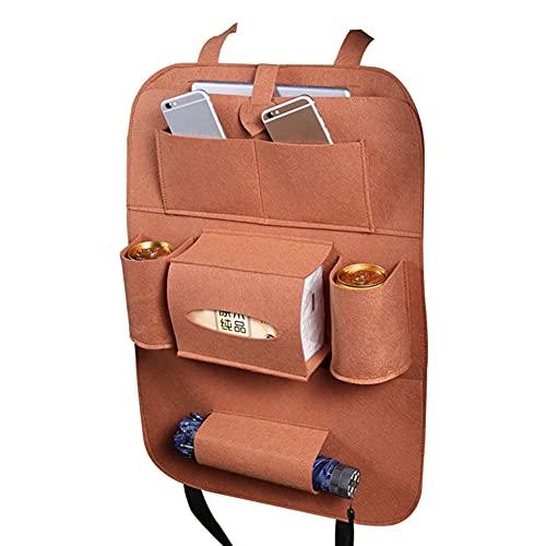 2 piezas bolsa de almacenamiento universal caja trasera asiento organizador bolsa asiento trasero bolsillos coche estilo protector auto accesorios