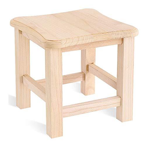 Massivholzhocker, niedriger Holzhocker zu Hause Schuhwechselhocker, stark tragend, geeignet für Küche, Wohnzimmer, Schlafzimmer, mit rutschfester Matte/C / 30x30x35cm