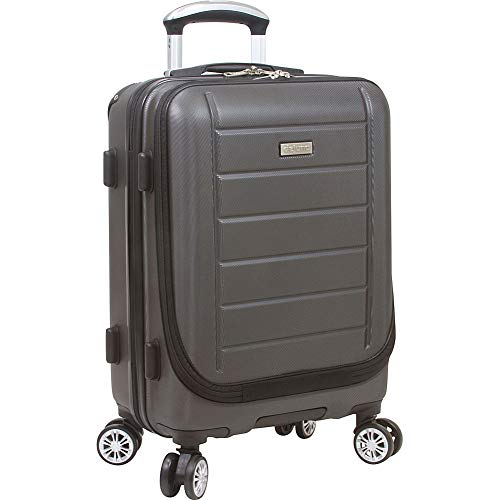 Dejuno Compact Hardside 20-inch Carry-on Luggage with Laptop Pocket, Charcoal, One Size