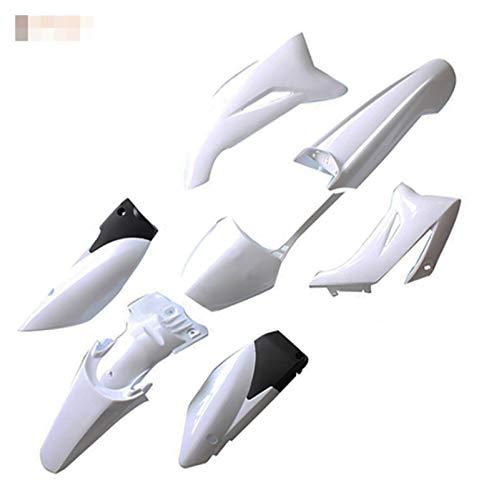 Ting Ting TTRS Store TTR110 Plastic Fairing Body Kit Fit for Yamaha TTR110 TTR 110 2008 2009 2010 2011 2012 2013 2014 2015 Amp 110-200CC Dirt Bike (Color : White)