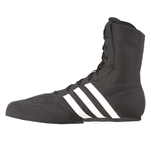 adidas Box Hog Kids Boxing Trainer Shoe Boot Black/White - UK 6
